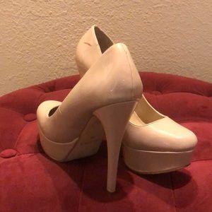 Aldo Shoes - Aldo Nude Patent Leather Heels
